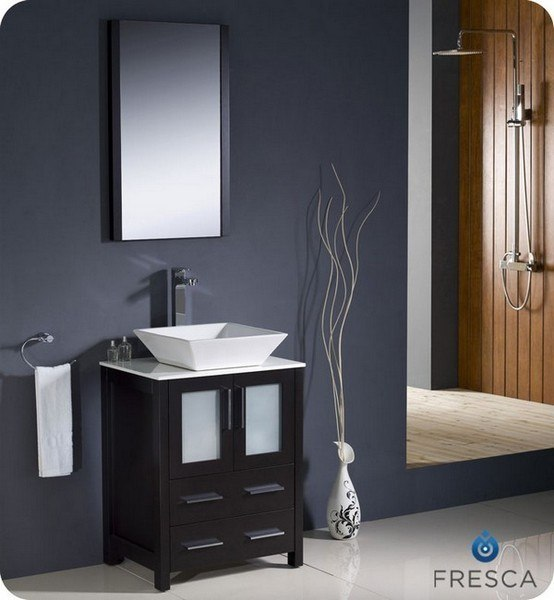 Fvn6224es Vsl Torino 24 Inch Espresso Modern Bathroom Vanity W