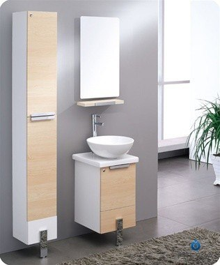 Fvn8110lt Adour 16 Inch Light Walnut Modern Bathroom Vanity With Mirror Fvn8110lt Fst8110mr Adour 16 Inch Light