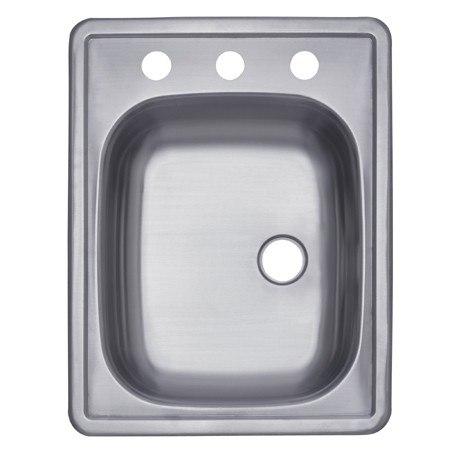 Kingston Brass K22175BNR Gourmetier Stainless Steel Single Bowl Self-rimming Bar Sink, Brushed Nickel