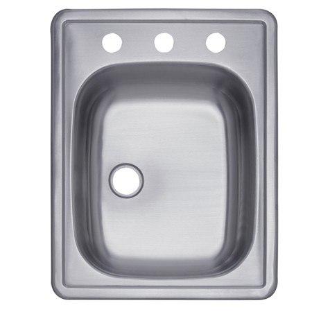 Kingston Brass K22175BNL Gourmetier Carefree Stainless Steel Single Bowl Self-rimming Bar Sink, Brushed Nickel
