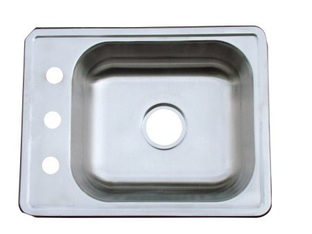 Kingston Brass K22176BN Self Rimming Single Bowl Stainless Steel Kitchen Sink