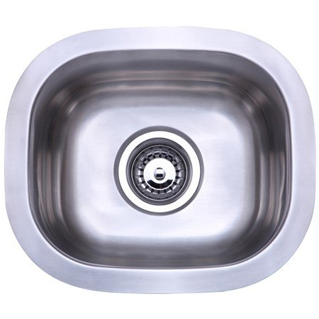 Kingston Brass KU12106BN Gourmetier Country Stainless Steel Single Bowl Undermount Kitchen Sink, Brushed Nickel