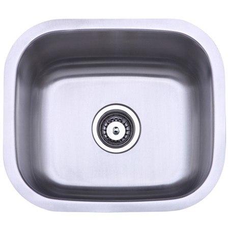 Kingston Brass KU14167BN Gourmetier Country Stainless Steel Single Bowl Undermount Kitchen Sink, Brushed Nickel