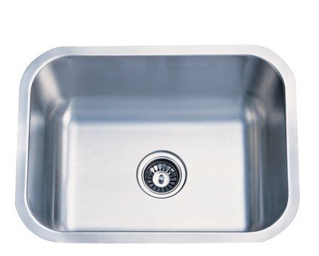 Kingston Brass KU23189BN Gourmetier Chicago Stainless Steel Single Bowl Undermount Kitchen Sink, Brushed Nickel