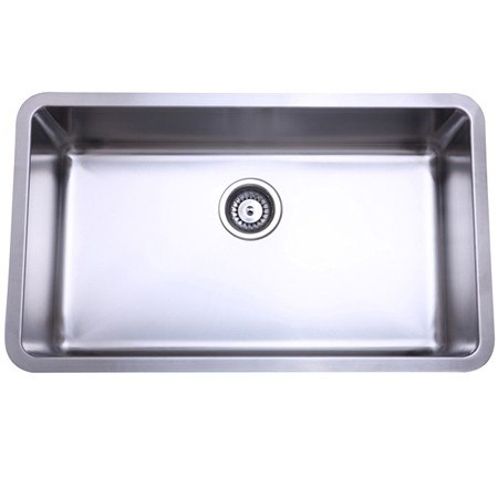 Kingston Brass KU311810BN Gourmetier Boston Stainless Steel Single Bowl Undermount Kitchen Sink, Brushed Nickel