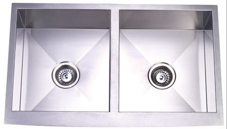 Kingston Brass KUF332010DBN Gourmetier Stainless Steel Double Bowl Farm  House Kitchen Sink