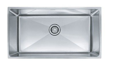Franke PSX1103310 34 Inch 'Professional Series' Undermount Single Bowl Stainless Steel Sink w/ 10 Inch Bowl Depth