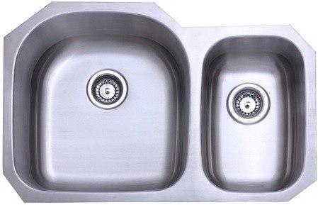Kingston Brass KU322097DBN Gourmetier Seattle Stainless Steel Double Bowl Undermount Kitchen Sink, Brushed Nickel