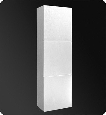 FRESCA FST8090WH WHITE BATHROOM LINEN SIDE CABINET W/ 3 LARGE STORAGE AREAS