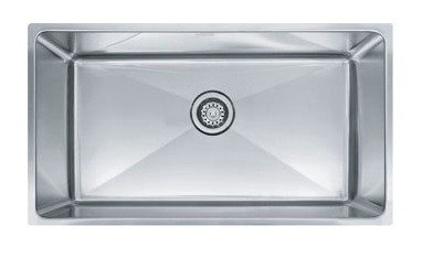 Franke PSX110339 34 Inch 'Professional Series' Undermount Single Bowl Stainless Steel Sink w/ 9 Inch Bowl Depth