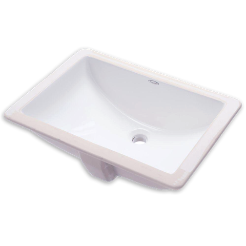 American Standard 0614.300.020 Studio 18-1/4 Inch Porcelain Undermount Rectangular Sink in White