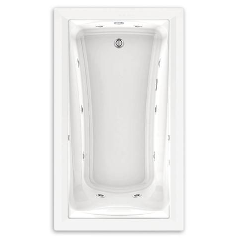 AMERICAN STANDARD 3571.048WC.K2 GREEN TEA 60 X 36 INCH ACRYLIC EVERCLEAN ECOSILENT WHIRLPOOL WITH CHROMATHERAPY LED LIGHTING SYSTEM