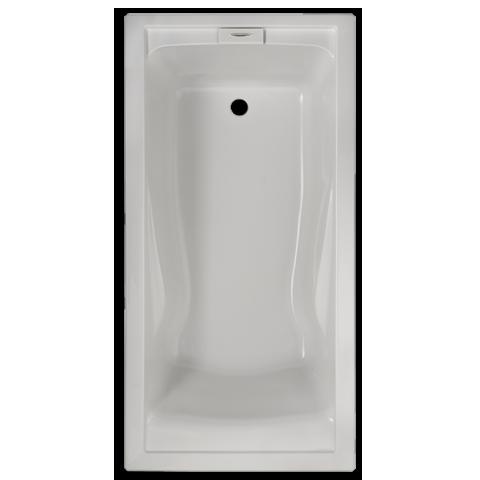AMERICAN STANDARD 7236V.002 EVOLUTION 72 X 36 INCH ACRYLIC DEEP SOAK BATHTUB, FOR DROP-IN OR ALCOVE INSTALLATION