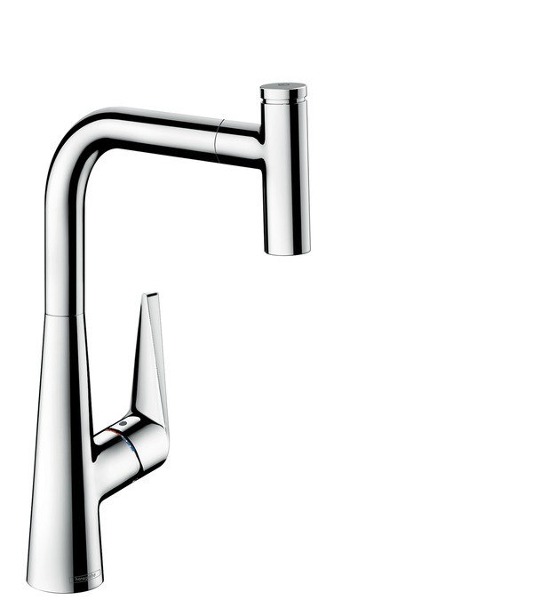Hansgrohe 72821 Talis S 2-Spray HighArc Pull-Out Kitchen