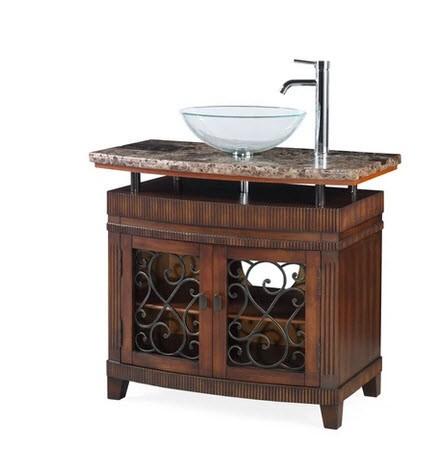 Chans Furniture Q226bn Artturi 36 Inch, Bathroom Vessel Vanity