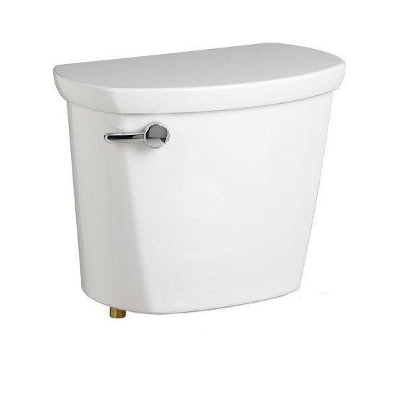 American Standard 4188A.064.020 Cadet PRO 1.6 GPF EverClean Toilet Tank, Left Hand Trip Lever with Locking Device