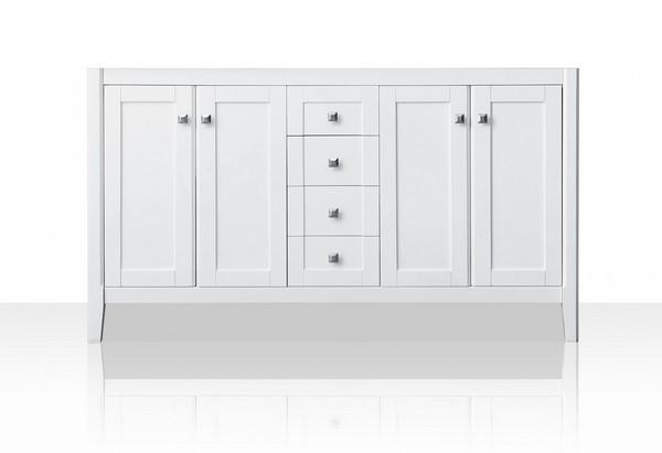 Ancerre Designs V Shelton 60 W Shelton 59 Inch White Bath Vanity No Countertop