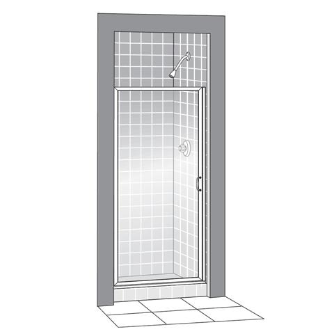 American Standard 833 213 Hammered Gl Showerite Hinged Pivot Framed Shower Doors Fits 22 3