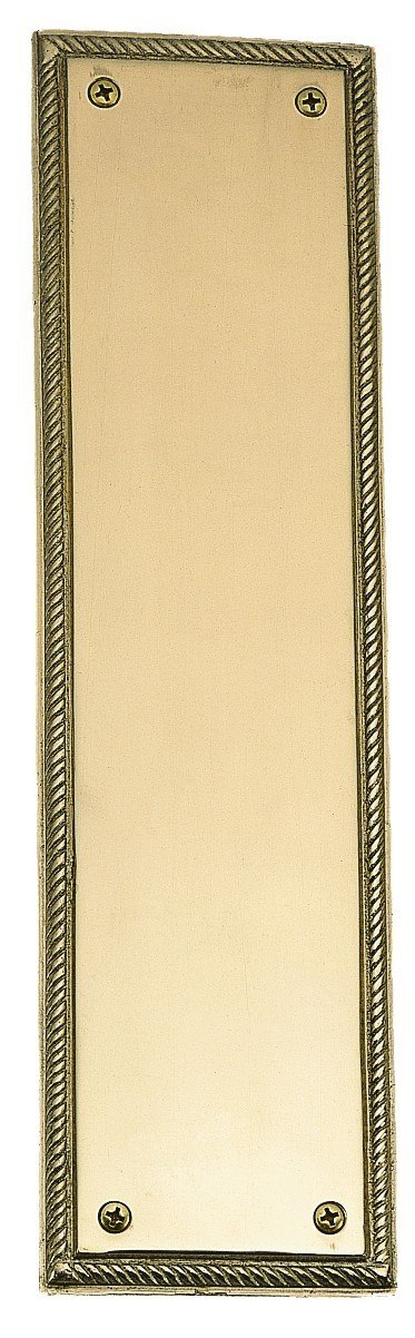 BRASS Accents A06-P0240 Rope Push Plate 3 x 12 Inch