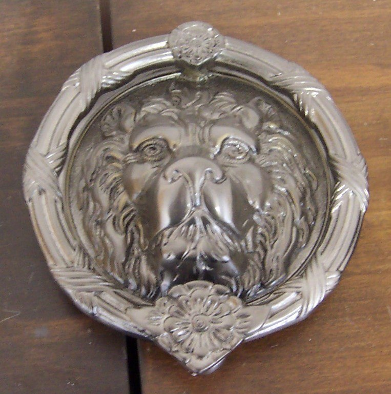 BRASS Accents A07-K5100 Leo Lion Door Knocker 8-3/8 Inches
