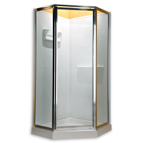 AMERICAN STANDARD AM00EQF.400.213 PRESTIGE FRAMELESS PIVOT NEO ANGLE SHOWER DOOR FITS 36 INCH MAX OPENING IN SILVER