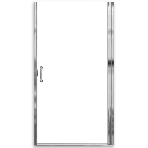 """AMERICAN STANDARD AM0303D.400 CLEAR GLASS EURO FRAMELESS PIVOT HINGE SHOWER DOORS WITH """"D"""" HANDLE FITS 32-11/16 TO 33-9/16 INCH WIDTH OPENINGS"""