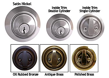 BRASS Accents D09-D0050 Single Cylinder Deadbolt 2 Inches Backset