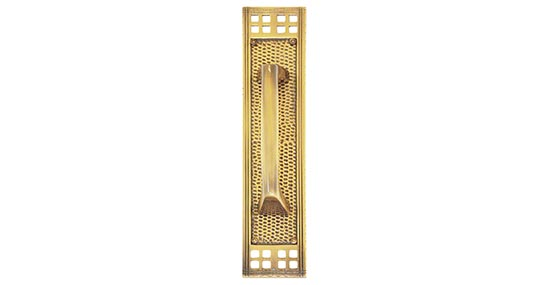 BRASS Accents A05-P5351-MSS Arts and Crafts Mission Pull on Plate