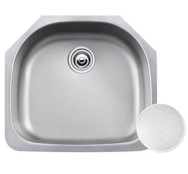 Kraus KBU10E Outlast MicroShield 23 Inch Undermount Single Bowl 16 Gauge Stainless Steel Sink