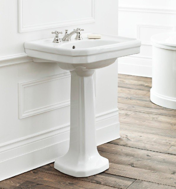Cheviot 511/20-WH 20 Inch Mayfair Pedestal Sink in White