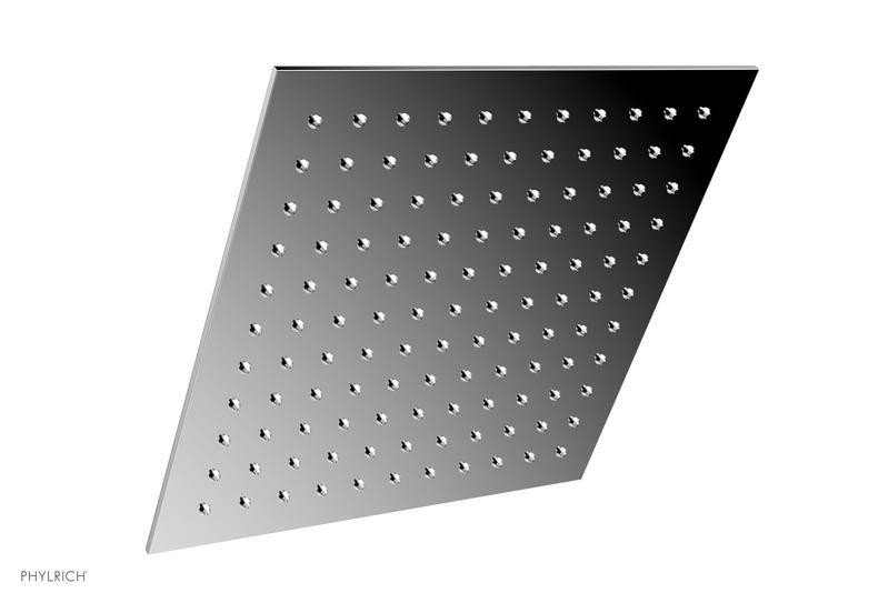 PHYLRICH 3-337 BASIC II WALL MOUNT SINGLE-FUNCTION SQUARE SHOWER HEAD