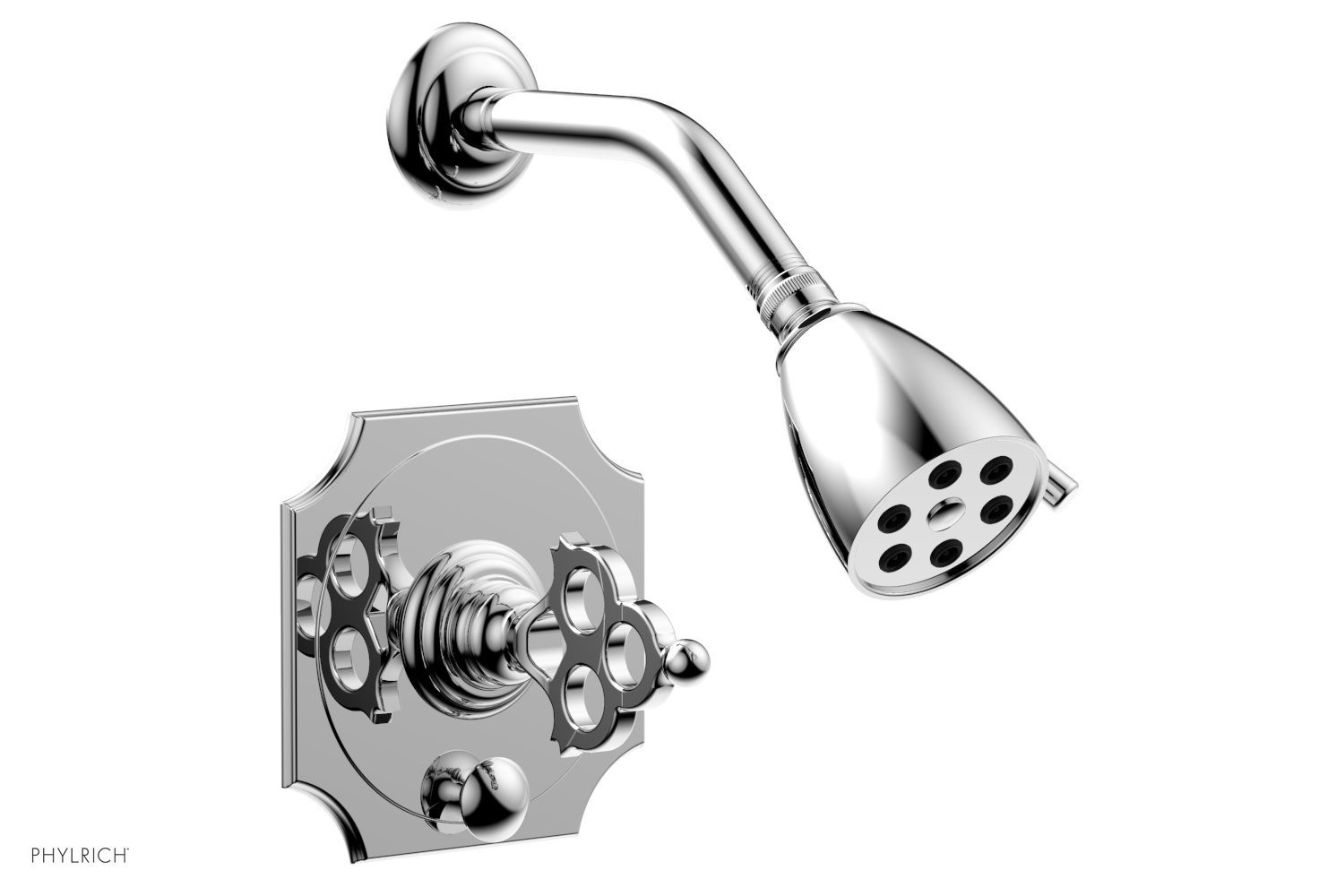 PHYLRICH 4-471 MAISON WALL MOUNT PRESSURE BALANCE SHOWER AND DIVERTER SET WITH BLADE HANDLE