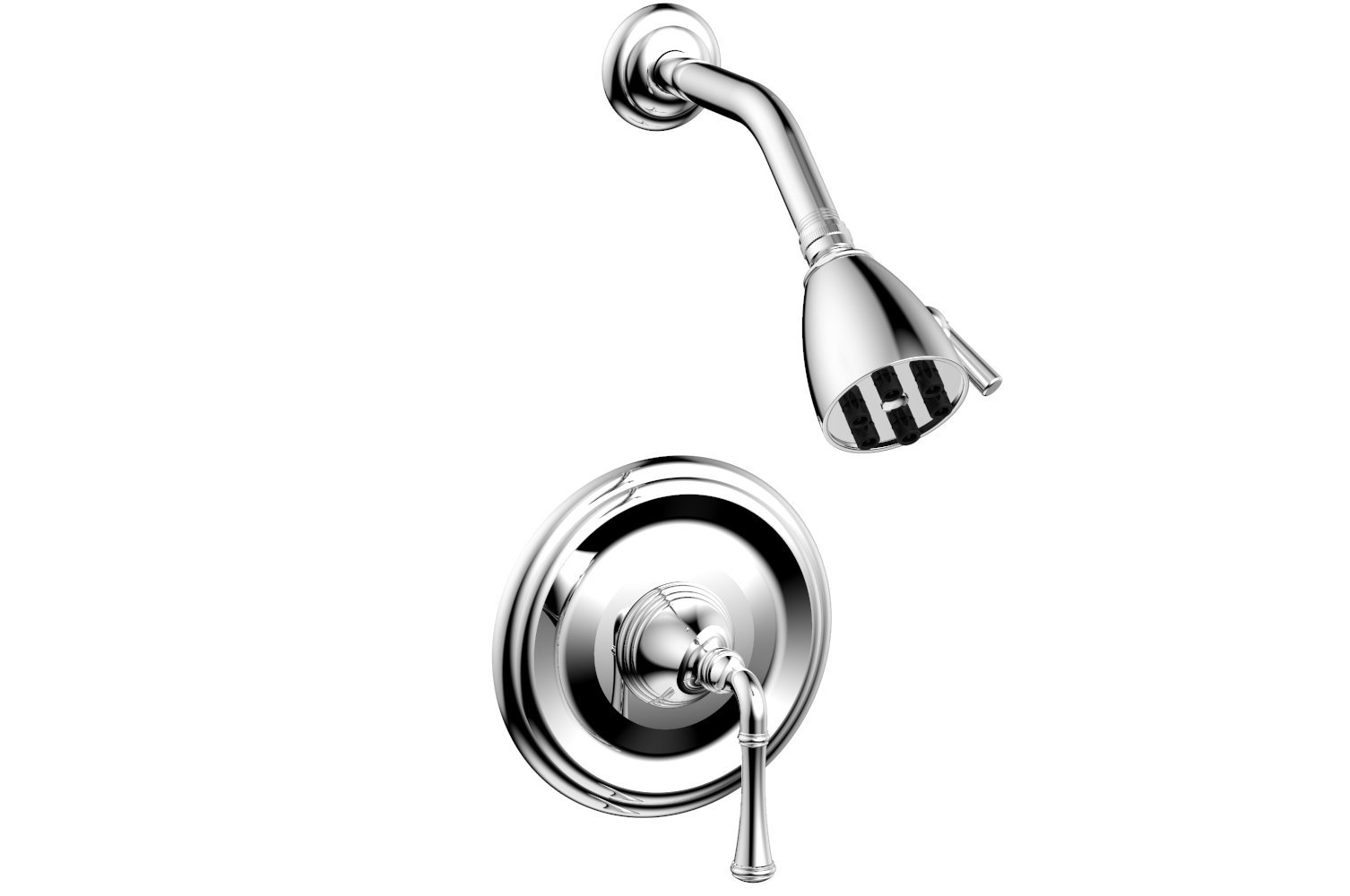 PHYLRICH DPB3205 3RING WALL MOUNT PRESSURE BALANCE SHOWER SET WITH STRAIGHT LEVER HANDLE