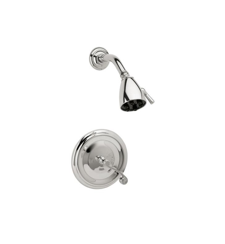 PHYLRICH DPB3206 3RING WALL MOUNT PRESSURE BALANCE SHOWER SET WITH CURVED LEVER HANDLE