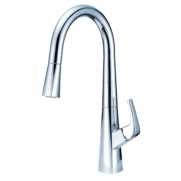 Danze D454418 Vaughn Single Handle Kitchen Pull Down Kitchen Faucet With Snapback And Dockforce 1 75 Gpm D454418