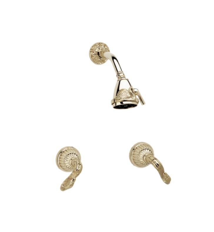 PHYLRICH K3123 SWAN WALL MOUNT SHOWER SET WITH TWO LEVER HANDLES