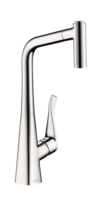 HANSGROHE 04508 METRIS 2-SPRAY PULL-OUT PREP KITCHEN FAUCET