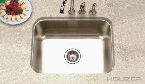 Houzer ES-2408-1 Elite 23-3/16 Inch Undermount Single Bowl