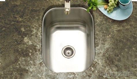 Houzer CS-1307-1 Undermount 12-1/2 Inch Small Club Bar/Prep Sink Series