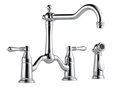 Brizo 62536LF Tresa Two Handle Bridge Kitchen Faucet with Spray
