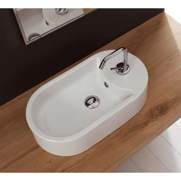 SCARABEO 8096 SEVENTY COLLECTION 34.3 INCH BATHROOM SINK