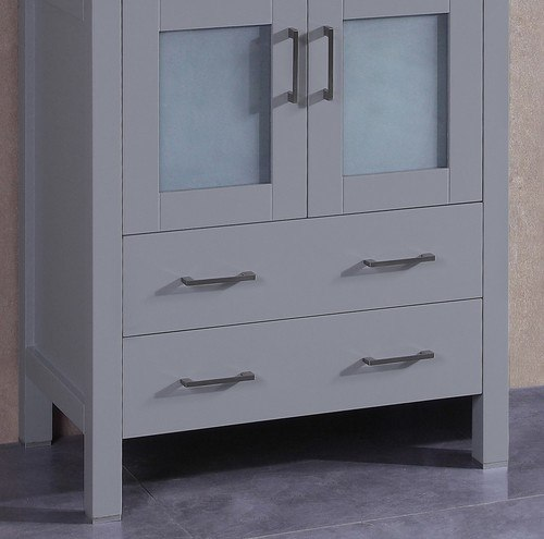 Bosconi A-GR-24MC 24 Inch Single Vanity Cabinet in Gray