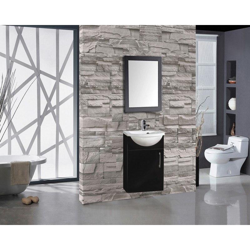 Mtd Mtd 5016b Athena 16 Inch Single Sink Bathroom Vanity In Black Mtd 5016b Mtd5016b