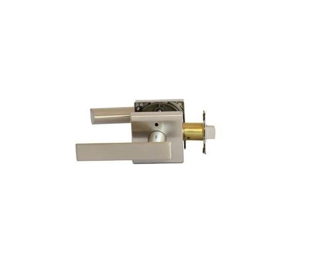 MaxGrade 201ABE15 Aberdine Privacy Push Button Lock Satin Nickel Finish with Adjustable Backset and Radius Strike