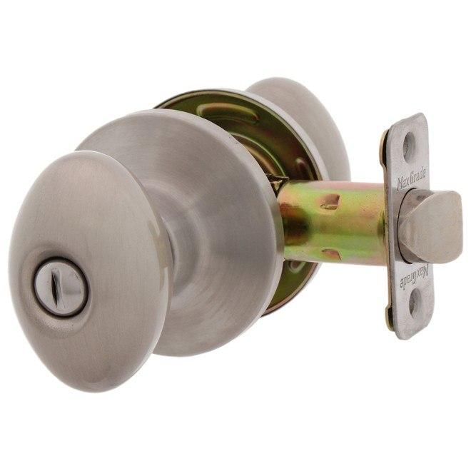 MaxGrade 200BAK Baker Egg Style Privacy Turn Button Lock