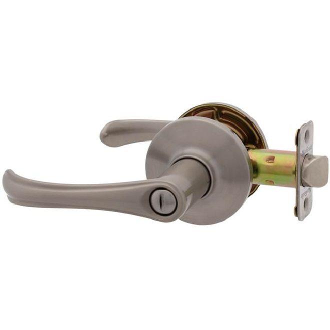 MaxGrade 201TRE Trent Lever Privacy Push Button Door Leverset