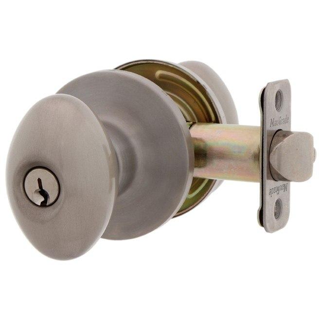 MaxGrade 300BAKKW Baker Egg Style Keyed Entry Door Lockset Kwikset Keyway