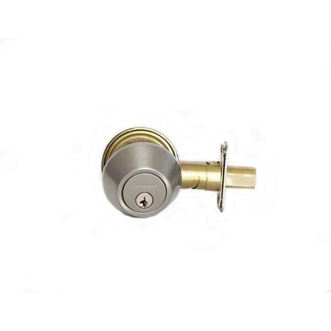 MaxGrade 650 Double Cylinder Deadbolt with Adjustable Backset and Square Strike