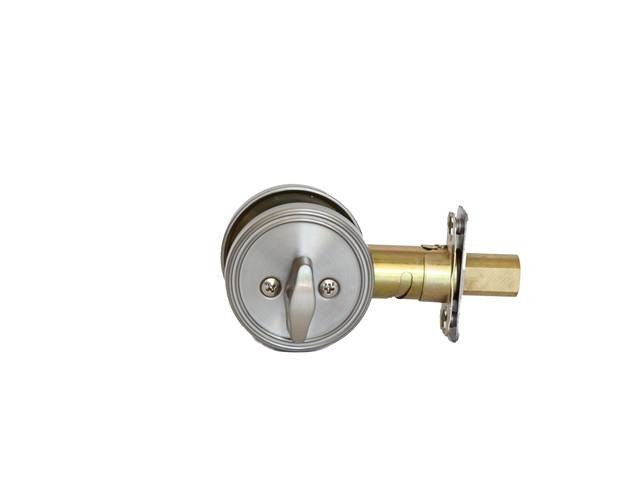 MaxGrade 675 One Sided Deadbolt with Plate with Adjustable Backset and Square Strike
