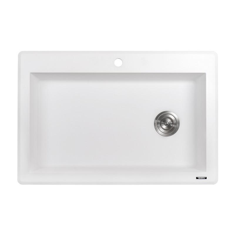 Ruvati Rvg1033wh Epigranite 33 X 22 Inch Dual Mount Granite Composite Single Bowl Kitchen Sink Ruvati Rvg1033bk